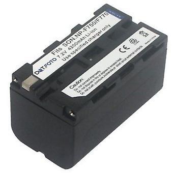Dot.Foto Sony NP-F750, NP-F770 batteria di ricambio - 7.2 v / 4200mAh