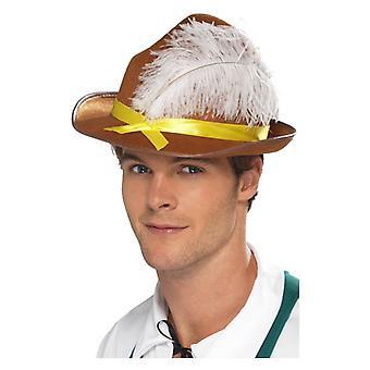 Mens Beierse hoed Fancy Dress accessoire
