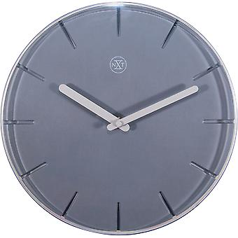 nXt - Wall clock - Ø 29,5 cm - Plastic - Grey - 'Sweet'