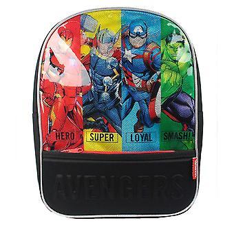 Marvel Avengers Wally Offizielle Schultasche T 10cm x B 25cm x H 32cm (7 Liter) Schwarz
