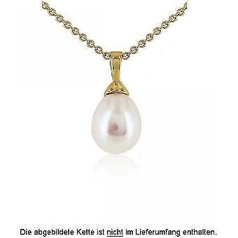 Luna-Pearls Pearl Pendant Freshwater Pearl 8-8.5 mm 585/-Yellow Gold 1022180