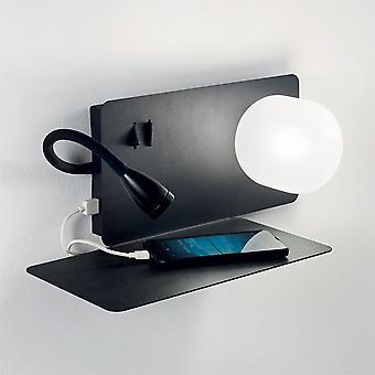 Ideal Lux Book LED 2 Luz de pared negro IDL174808