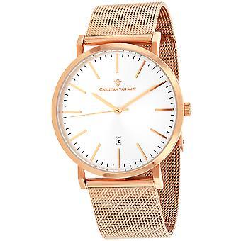 Christian Van Sant Men's Paradigm Silver Dial Watch - CV4322