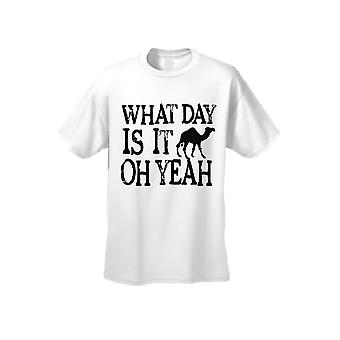 Men's What Day Is Its? Oh Yeah! Hump Day! Short Sleeve T-Shirt