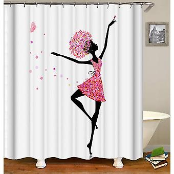 Dancing Flower Girl Shower Curtain