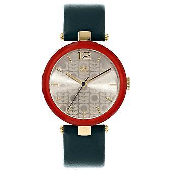 オーラ ・ カイリーのオーラ ・ カイリー女子マキシム花幹革ストラップ赤 Beze OK2218 腕時計