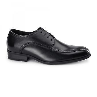 Azor Regent Mens Leather Oxford Smart Shoes Black