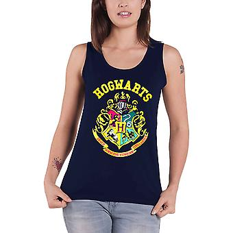 Harry Potter Vest Hogwarts Crest womens new Official Skinny Fit Top