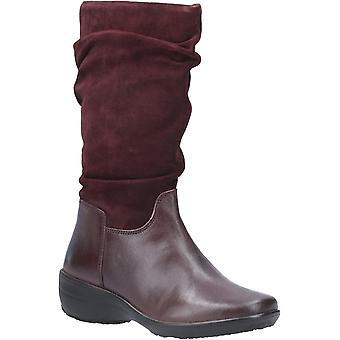 Fleet & Foster Womens Margot Zip Mid Boot Burgundy