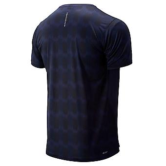 New Balance Mens Printed Accelerate SS Wicking Mesh Reflective T-Shirt