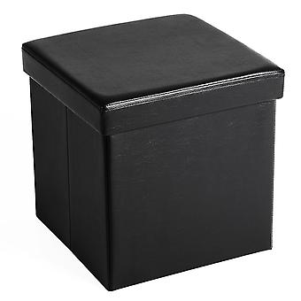 Cube Pouf with Storage-38 x 38 x 38 cm-Synthetic leather
