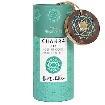 Something Different Heart Chakra Incense Cones (Pack Of 30)