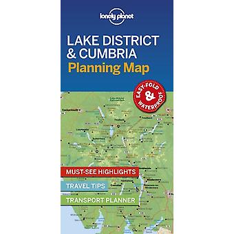 Lonely Planet Lake District  Cumbria Planning Map