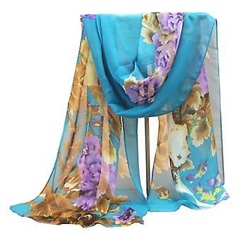 Summer floral chiffon thin scarf flower print