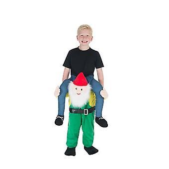 Zwerg Gartenzwerg Huckepack Trag mich Reiter Kinder Kostüm