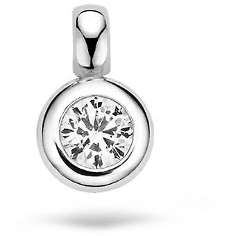 Blush 60679WZI pendant - White gold/ b l re white gold and zirconium oxide 6 mm set closed Woman