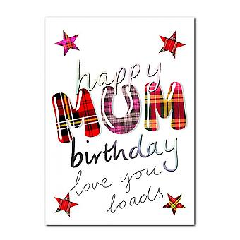 Embroidered Originals Happy Birthday Mum Scottish Card
