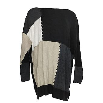 Style & Co. Women ' s plus trui colorblock tuniek zwart