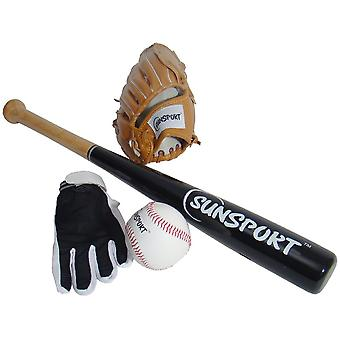 Bex Sport Baseball Gloves Bat and Ball Set