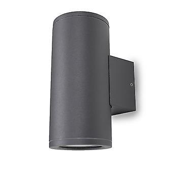 Wall lamp UpDown Patoro R 2x 35W GU10 IP54 dark grey H: 17.3 cm 10807