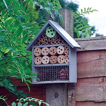 Large Wooden Insect Bee Hive Garden Nesting Box House Natural Wood Shelter
