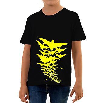 Reality glitch bat storm kids t-shirt