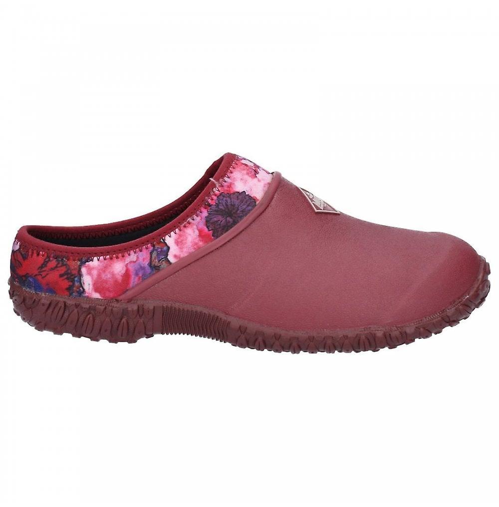 Muck støvler damer rhs muckster ii rød floral print slip på tresko