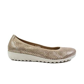 Caprice 22161 Beige Snake Leather Womens Slip On Pump Shoes