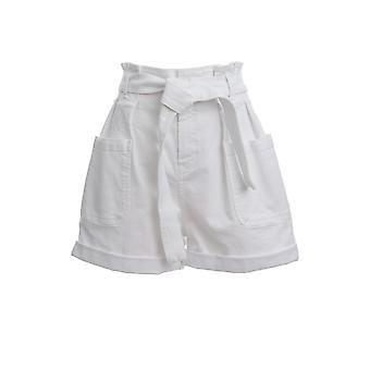 Red Valentino Tr0dd02c5480bo Women's White Cotton Shorts