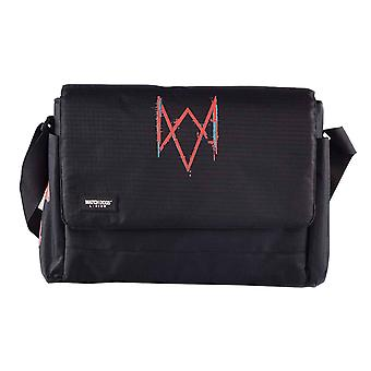 Watch Dogs Messenger Bag Legion Patches Logo new Official Gamer Black