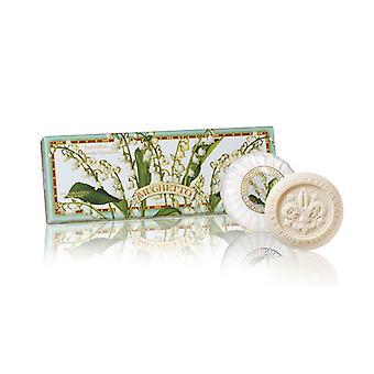 Saponificio Artigianale Fiorentino Handgemaakte Lelie van het Jaar Soap liefdevol verpakt in hoge kwaliteit Gift Box 3x100g