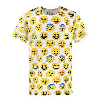 Emoticon Sublimation Faces Short Sleeve Boy's T-Shirt