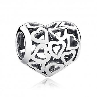 Sterling Silver Charm Lots Of Hearts - 5892