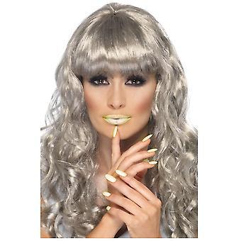 Make up and eyelashes  Lipstick and nail polish glow in the dark