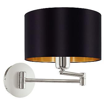 Eglo - Maserlo 1 lys tændt væg lys skinnende sort EG95054