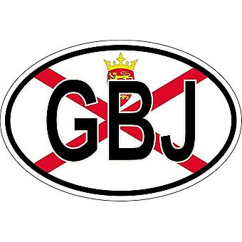Sticker sticker oval oval flag code country GBJ jersey