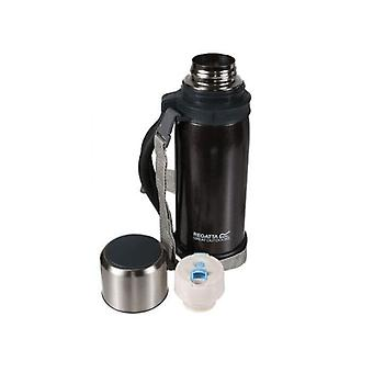 regatta stainless steel vacuum flask with handle 1.2l black double wall