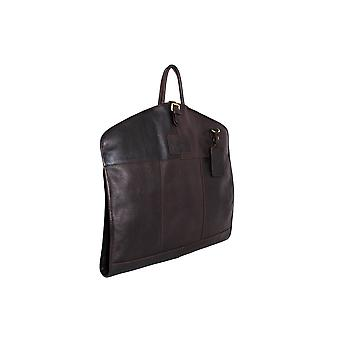 Ashwood Leather Folded Suit Carrier - Natural Cow Tumble Leather - Travel Suit Bag # Harper