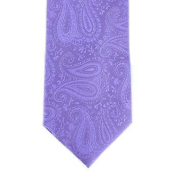 Michelsons av London tonala Paisley Polyester slips - lila