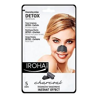 Ansiktsrengöring Detox Kol Svart Iroha (5 st)