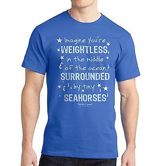 Napoleon Dynamite Imagine Seahorse Men's Royal Blue Funny T-shirt