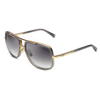 DITA Mach-One DRX2030 T Satin Crystal Grey-Yellow Gold/Dark Grey Gradient Sunglasses