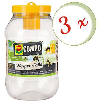 Sparset: 3 x COMPO wasp trap, 1 piece