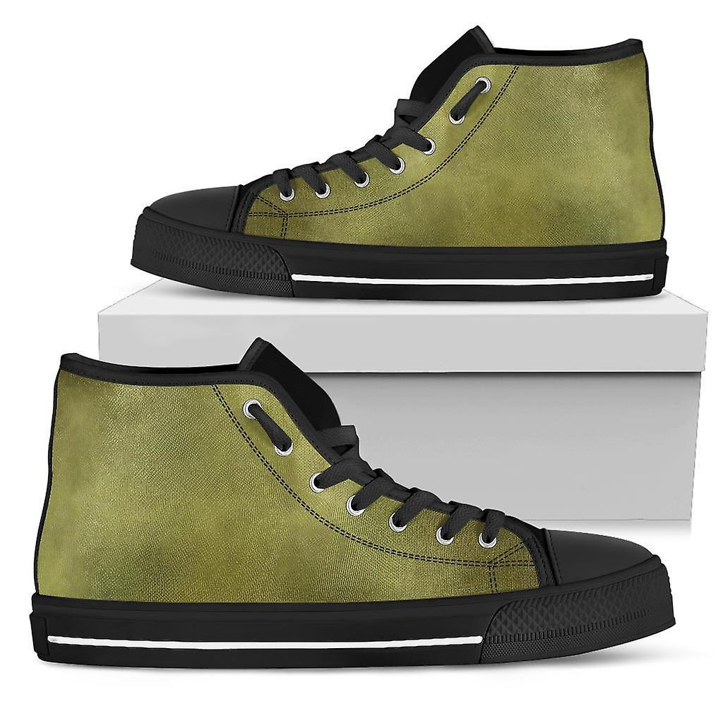 High Top Shoes | Watercolor in Army Green WHS7a
