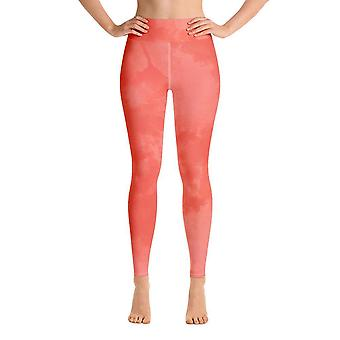 Leggings de treino | Leggings de Yoga | Aquarela | Laranja Escura