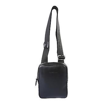 Longchamp 1309788001 Men's Black Leather Messenger Bag