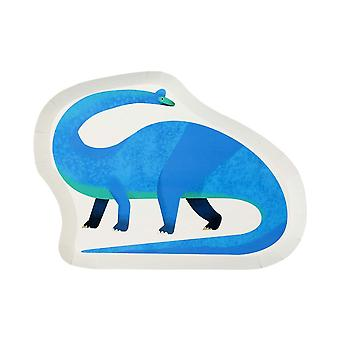 Dinosaur Shaped Paper Plate x 12 100% Recyclable