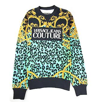Versace Jeans Couture Digital Leopard Print Sweat Schwarz