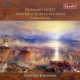 Goetz/Schulz-Beuthen - Hermann Goetz, Heinrich Schulz-Beuthen: Piano Music [CD] USA import