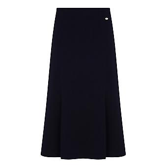 TIGI Navy Panelled Mid-Length Skirt